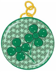 Clover Pendant embroidery design