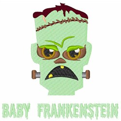 Baby Frankenstein embroidery design