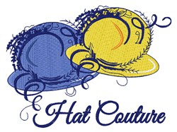 Hat Couture embroidery design