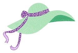Floppy Brim Hat embroidery design