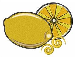 Lemons embroidery design