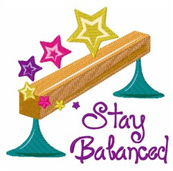 Stay Balanced embroidery design