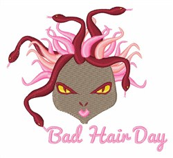 Bad Hair Day embroidery design