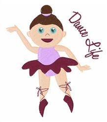 Dance Life embroidery design