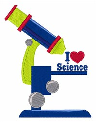 I Heart Science embroidery design