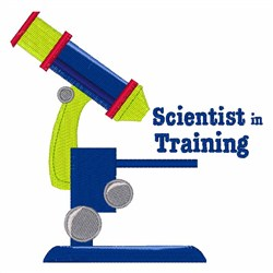 Scientist In Training embroidery design
