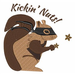 Kickin Nuts embroidery design