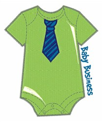 Baby Business embroidery design