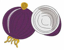 Purple Onion embroidery design