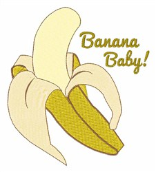 Banana Baby embroidery design