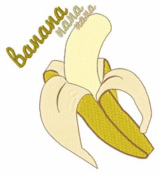 Banana Nana embroidery design