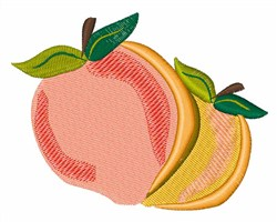 Peaches embroidery design