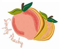 Simply Peachy embroidery design