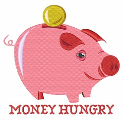 Money Hungry embroidery design