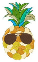 Sunny Pineapple embroidery design