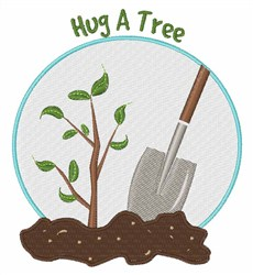 Hug A Tree embroidery design