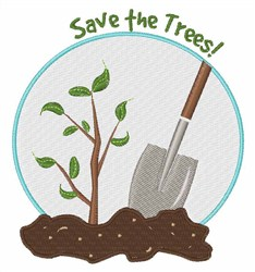 Save The Trees embroidery design