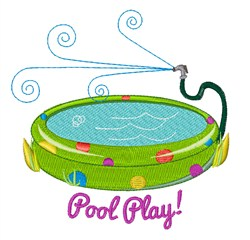 Pool Play embroidery design