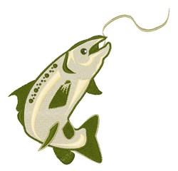 Salmon embroidery design
