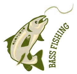 Bass Fishing embroidery design