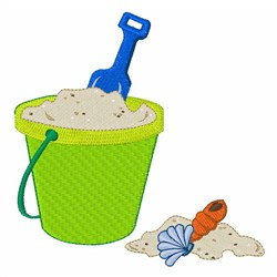 Sand Pail embroidery design