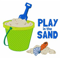 Play In The Sand embroidery design