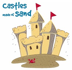 Castles Made Of Sand embroidery design