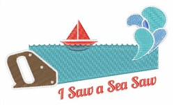 I Saw A Sea Saw embroidery design