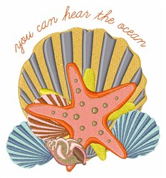 Hear The Ocean embroidery design