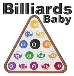 Billiards Baby embroidery design