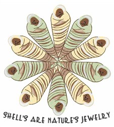 Natures Jewelry embroidery design