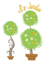 Le Jardin embroidery design