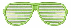 Shades embroidery design