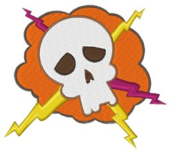 Electric Skull embroidery design