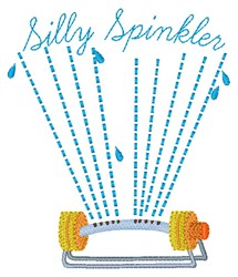Silly Sprinkler embroidery design