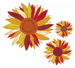 Mums embroidery design