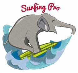 Surfing Pro embroidery design