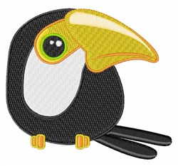 Toucan embroidery design
