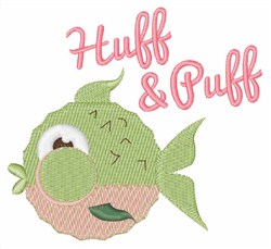 Huff & Puff embroidery design