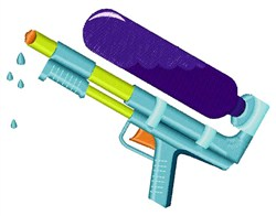 Water Gun embroidery design