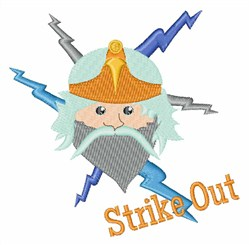 Strike Out embroidery design