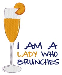 Lady Brunches embroidery design