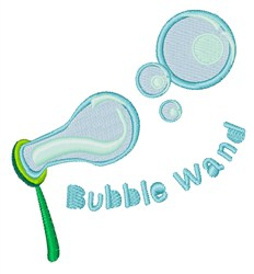 Bubble Wand embroidery design
