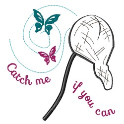Catch Me embroidery design