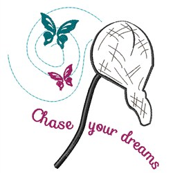 Chase Your Dreams embroidery design