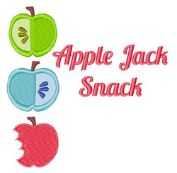Apple Jack Snack embroidery design