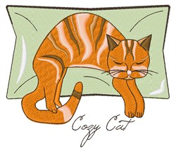 Cozy Cat embroidery design