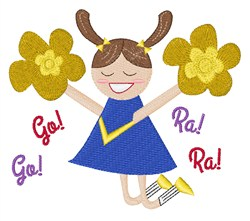 Go! Ra! Ra! embroidery design
