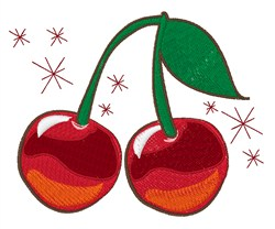 Sparkling Cherries embroidery design