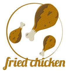 Fried Chicken embroidery design